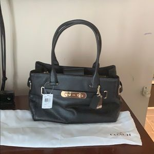 Black Leather Coach Pocketbook never used